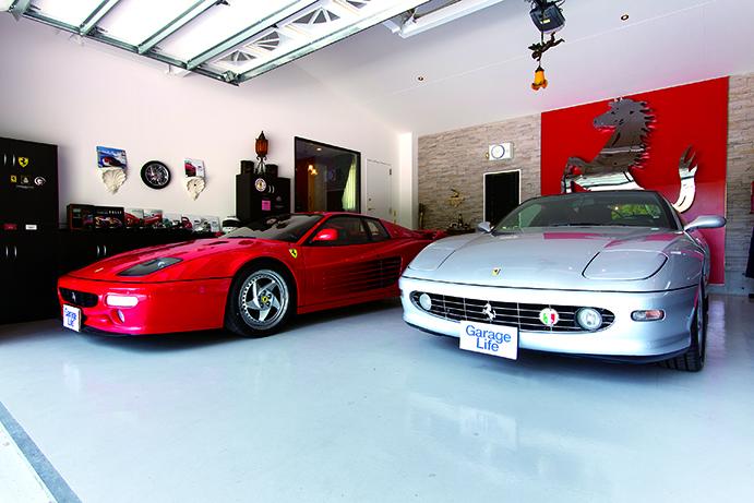 รถ Ferrari ดูราวกับเป็นรถมินิคาร์ เพราะโรงจอดรถมีทางเข้ากว้างถึง 9 เมตร ลึก 7.5 เมตร สูง 7 เมตร
